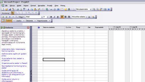 Jak zaplanować harmonogram w MS Project
