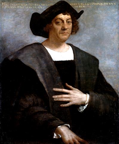 portret Kolumba, Sebastiano del Piombo, Wikipedia