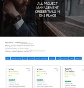 Wroolo najobszerniejsza porównywarka certyfikatów z zarządzania projektami